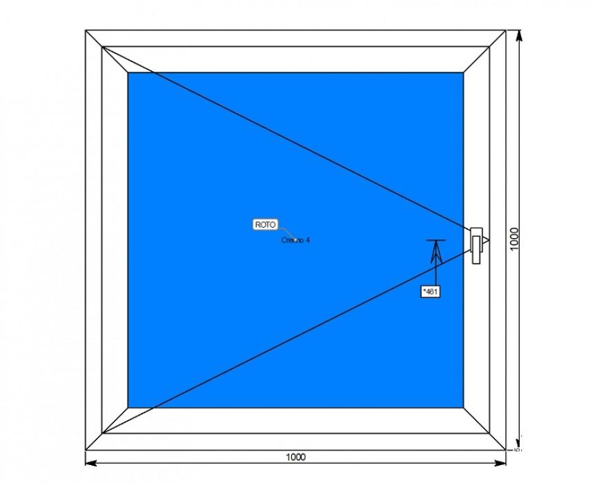 Алюминиевое окно поворотная створка
