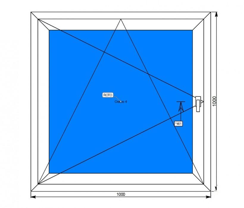 Алюминиевые окна с поворотно-откидной створкой