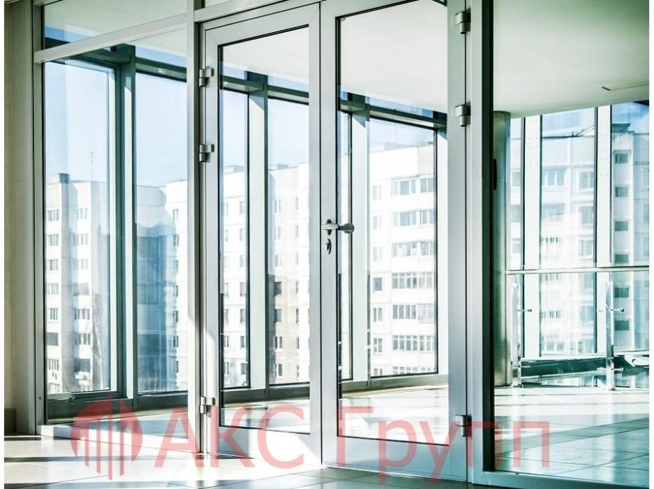 Противопожарная алюминиевая дверь EIWS 30