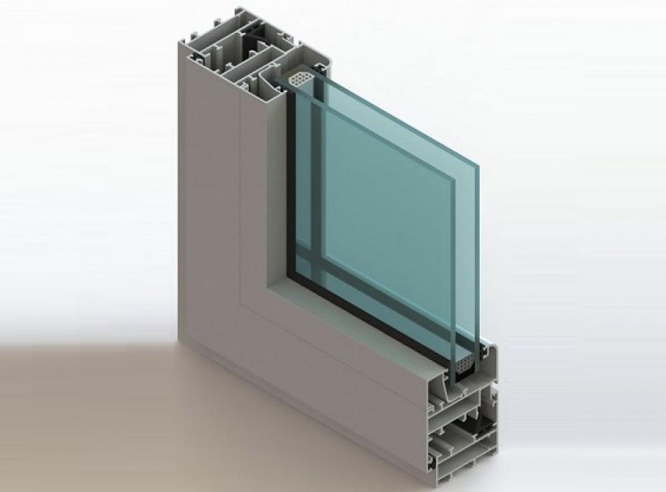 Холодной алюминиевое окно