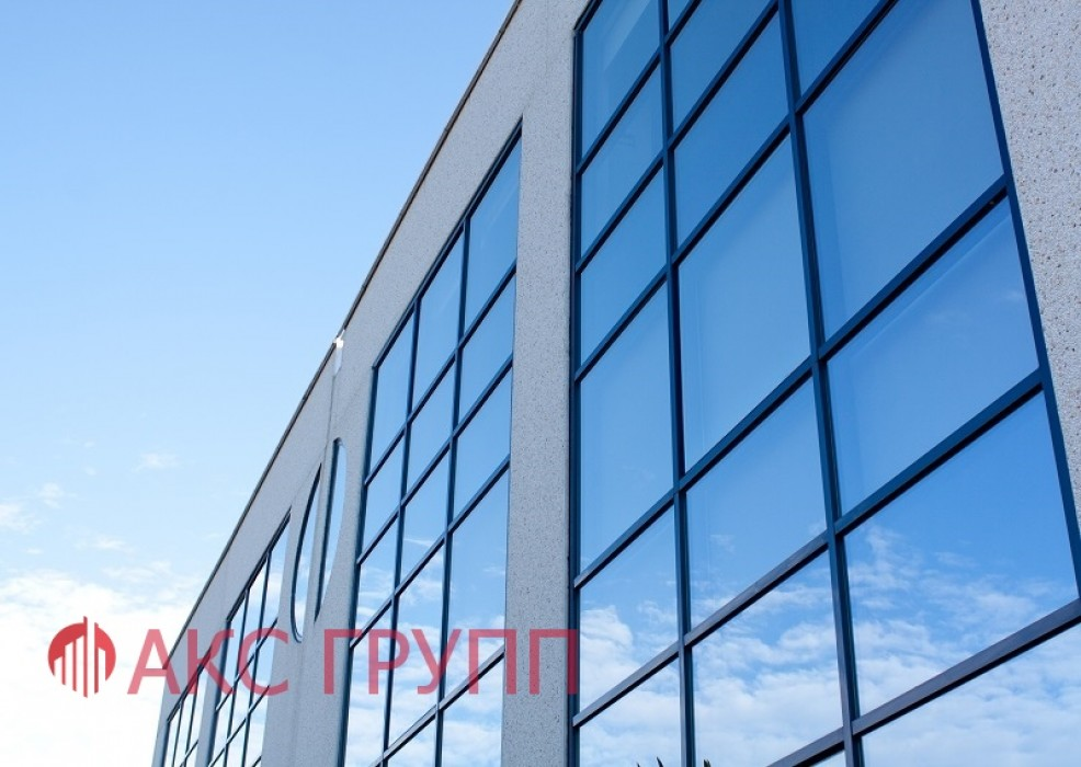 Противопожарное окно Е60 витражное